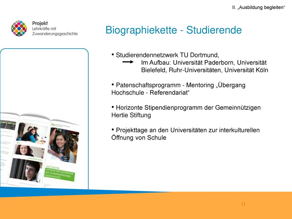 Biographiekette - Studierende