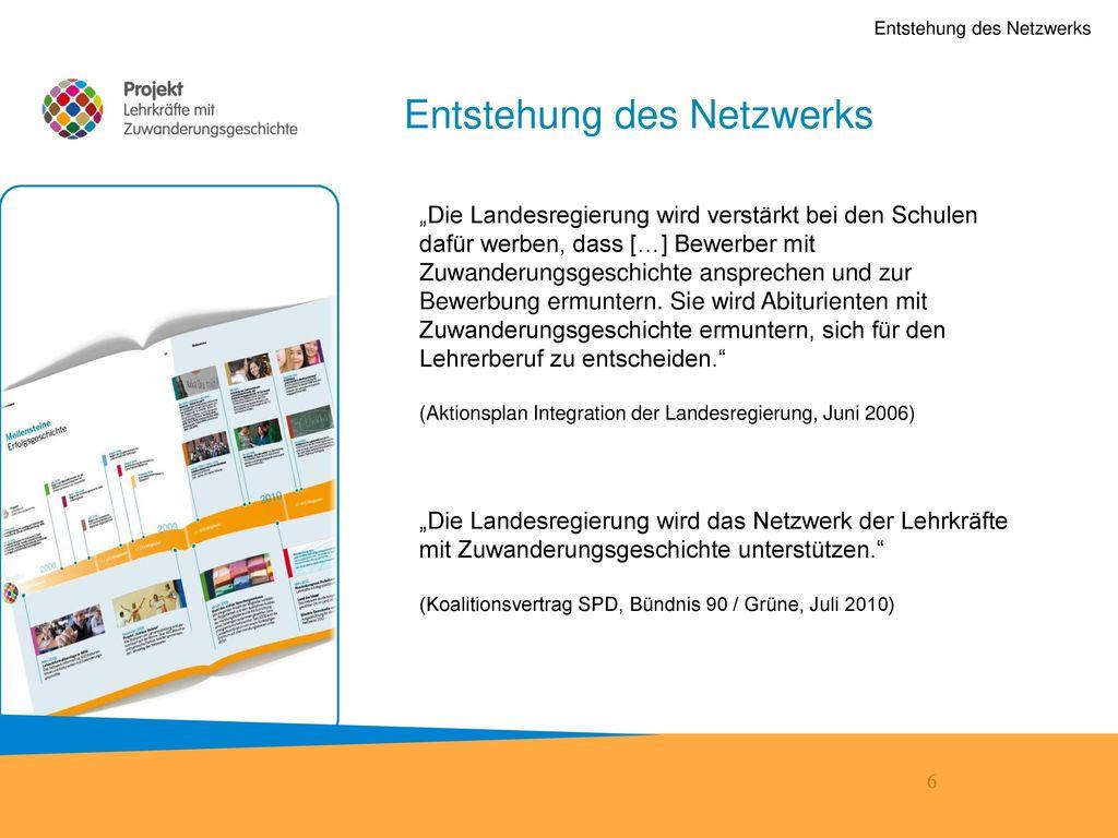 Entstehung des Netzwerks