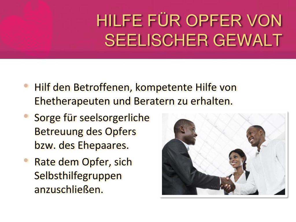 HILFE FÜR OPFER VON SEELISCHER GEWALT