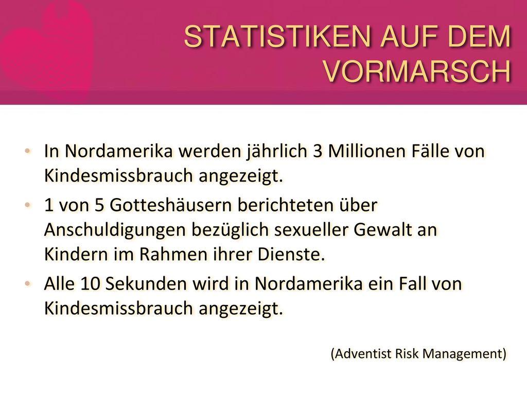 STATISTIKEN AUF DEM VORMARSCH