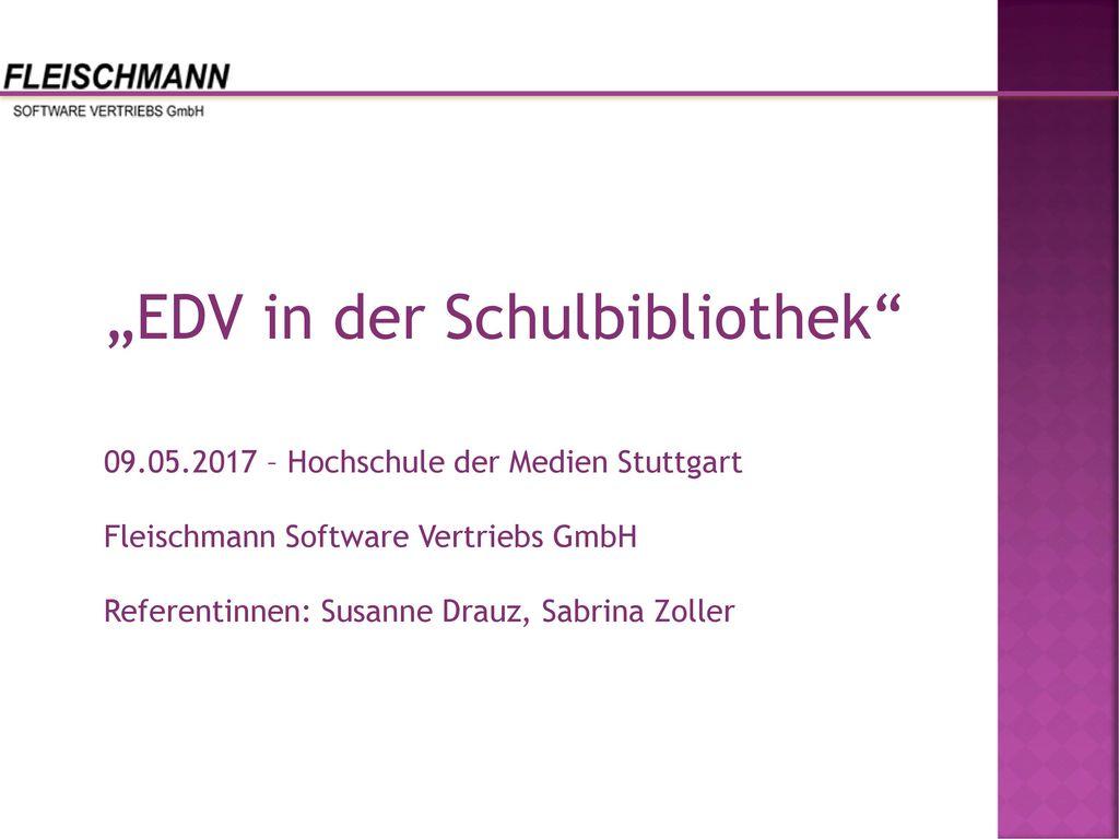 """""""EDV in der Schulbibliothek"""