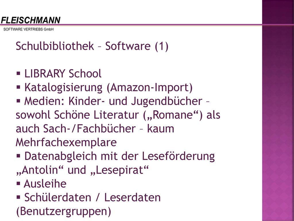 Schulbibliothek – Software (1)