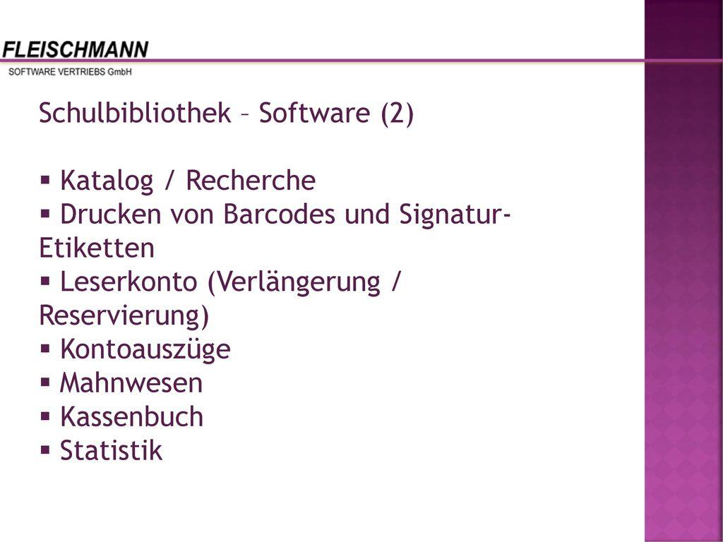 Schulbibliothek – Software (2)