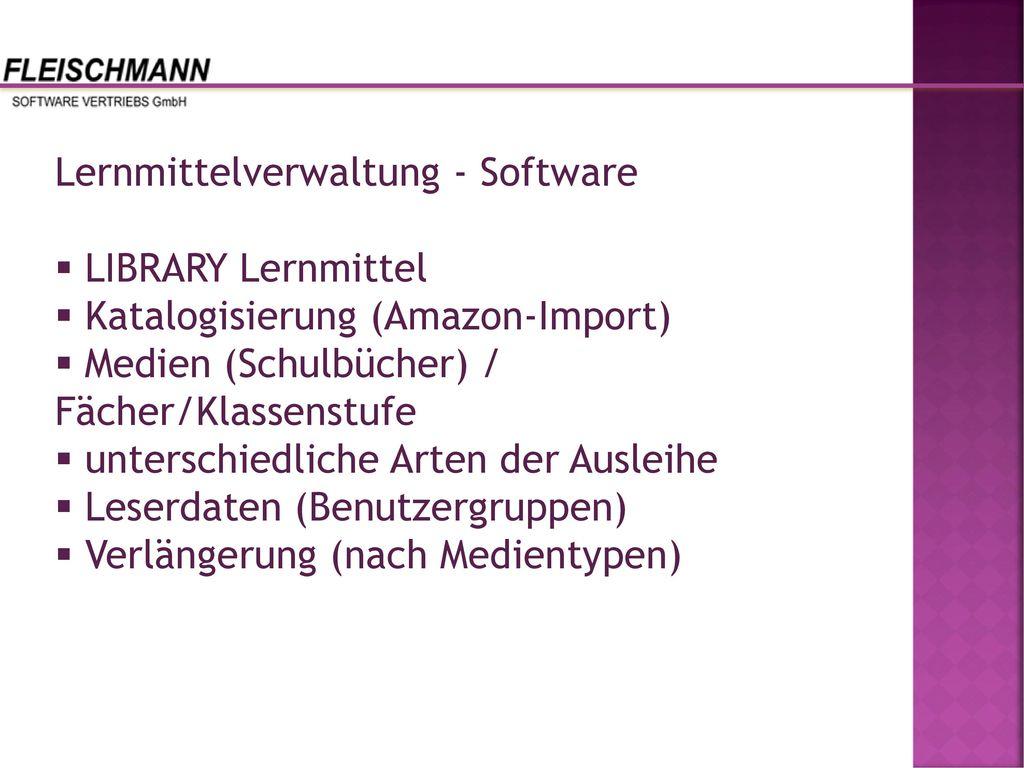 Lernmittelverwaltung - Software