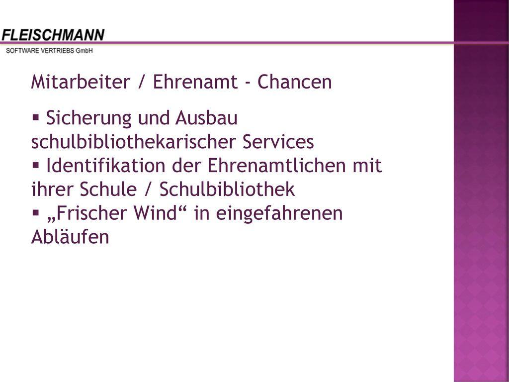Mitarbeiter / Ehrenamt - Chancen