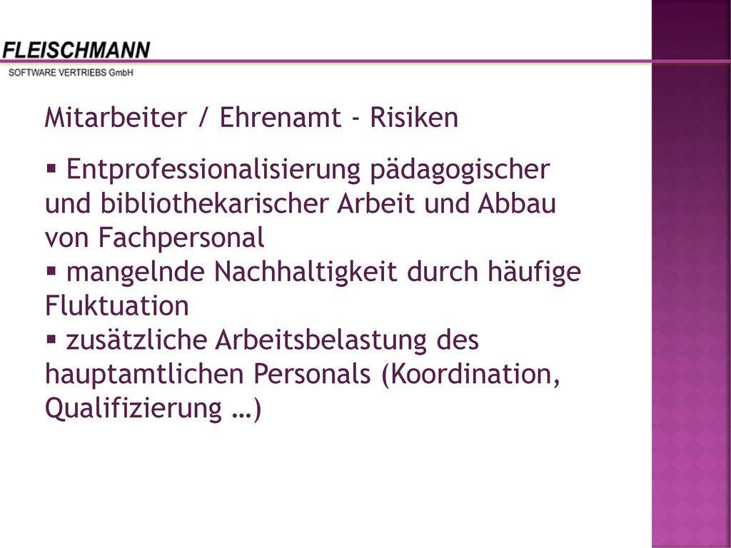 Mitarbeiter / Ehrenamt - Risiken