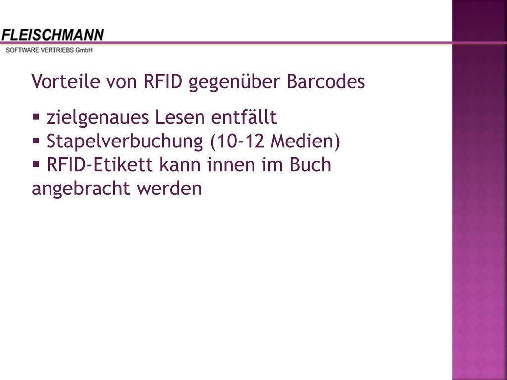Vorteile von RFID gegenüber Barcodes
