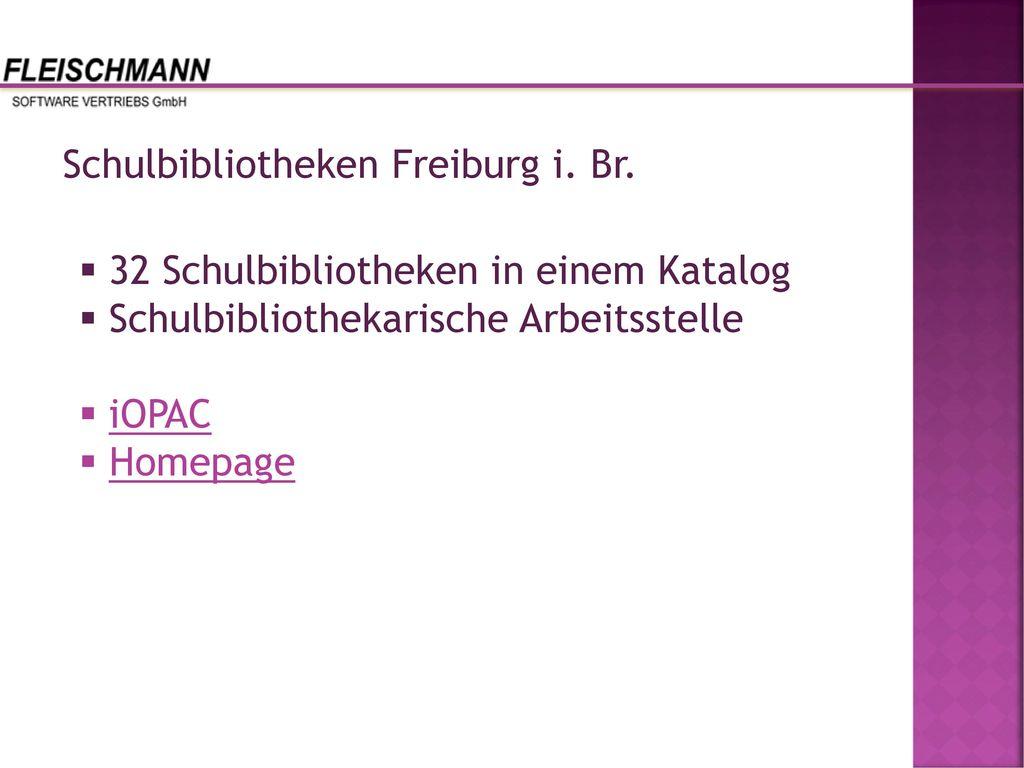 Schulbibliotheken Freiburg i. Br.