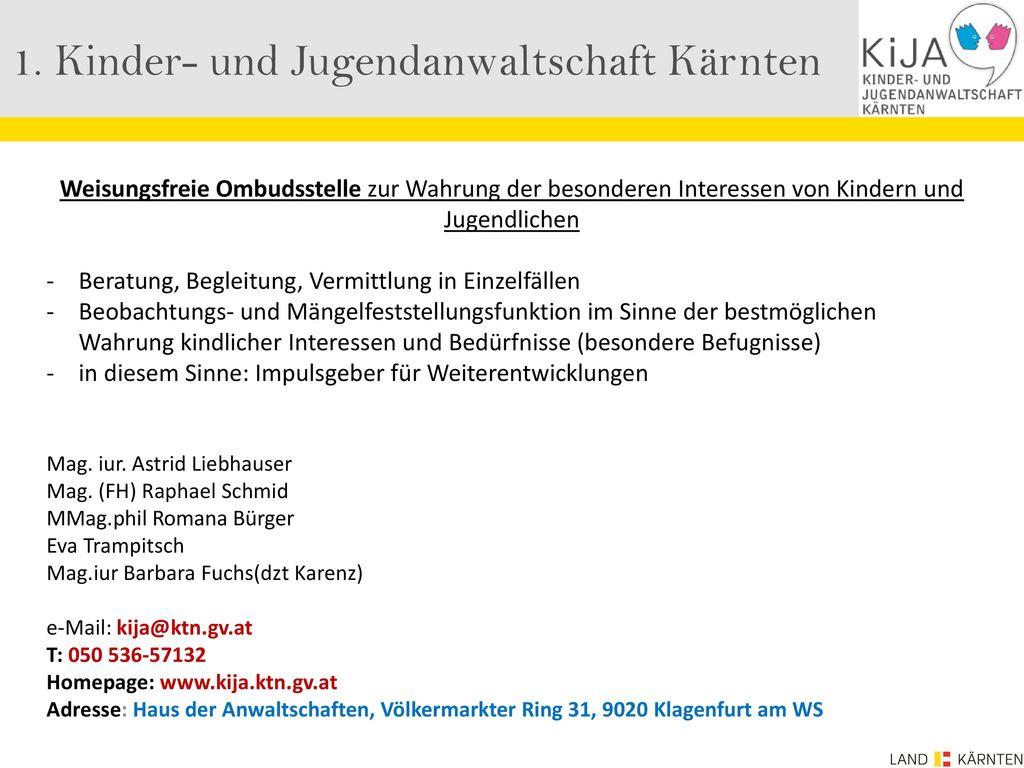 1. Kinder- und Jugendanwaltschaft Kärnten