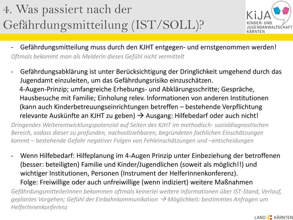 4. Was passiert nach der Gefährdungsmitteilung (IST/SOLL)