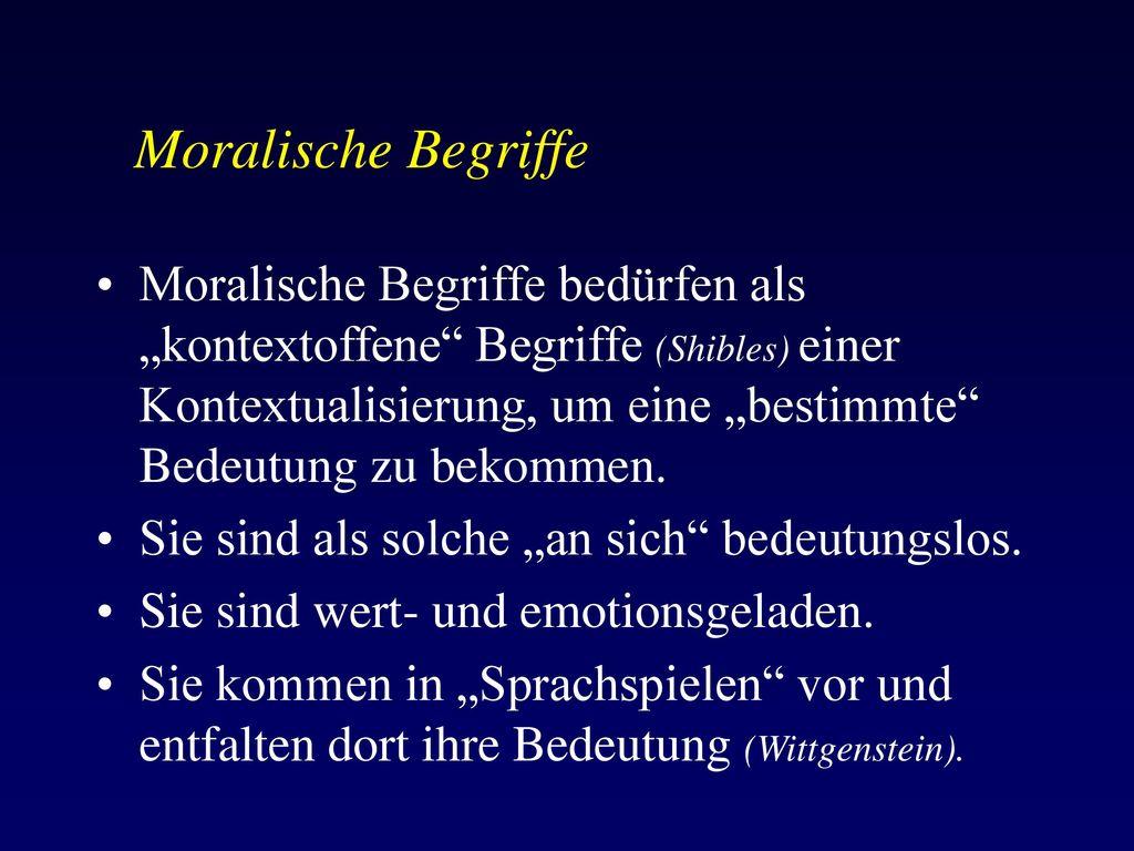 Moralische Begriffe