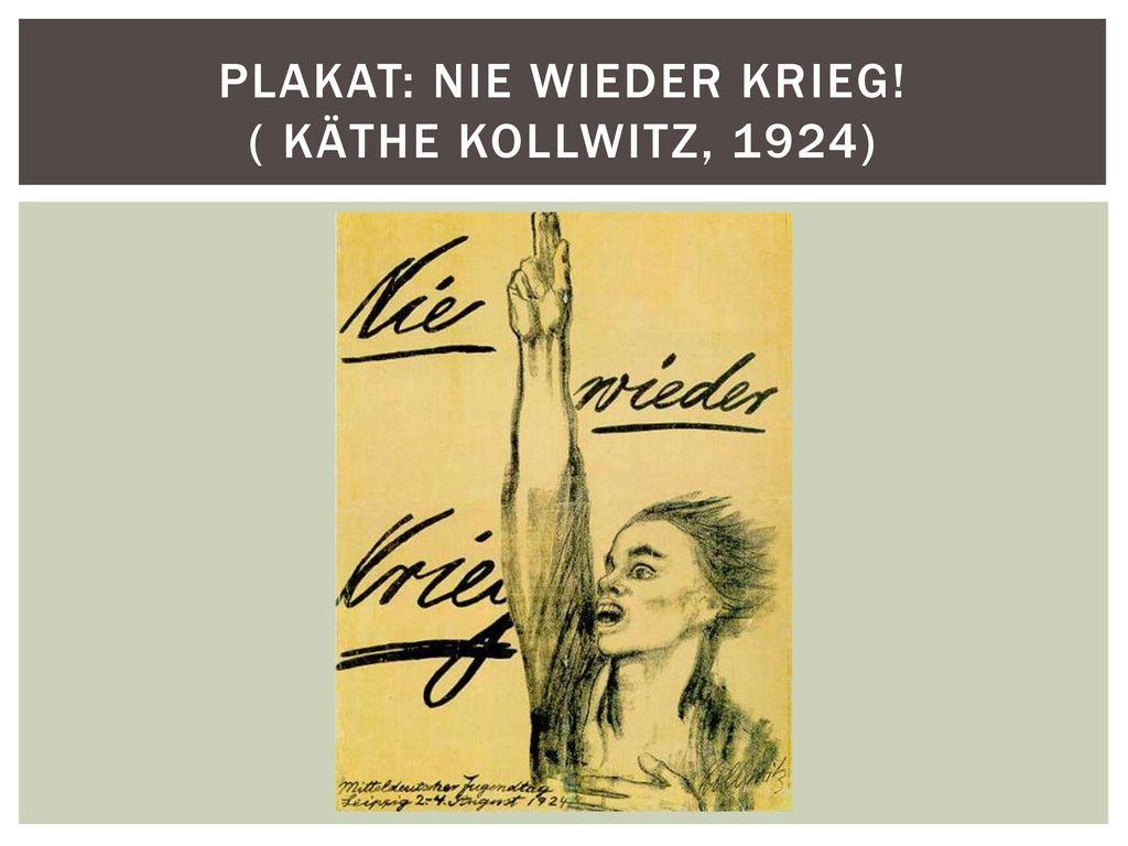 Plakat: Nie wieder Krieg! ( Käthe Kollwitz, 1924)