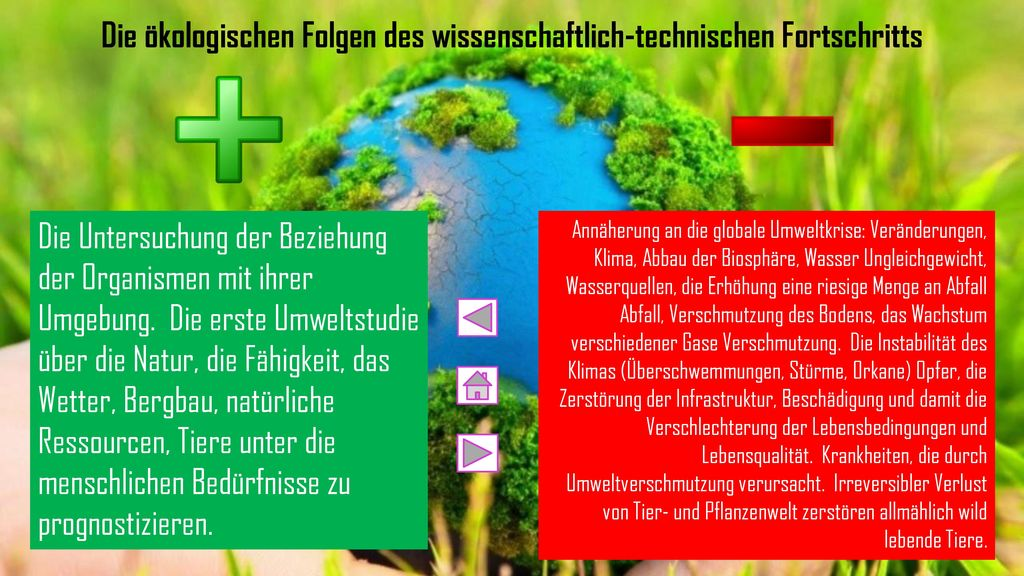 Die ökologischen Folgen des wissenschaftlich-technischen Fortschritts