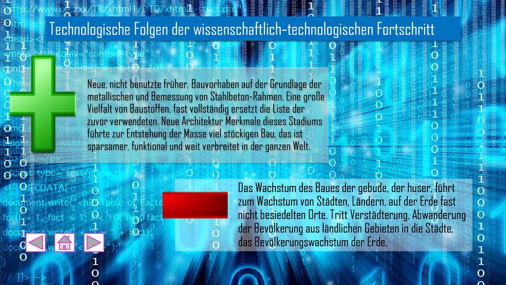 Technologische Folgen der wissenschaftlich-technologischen Fortschritt