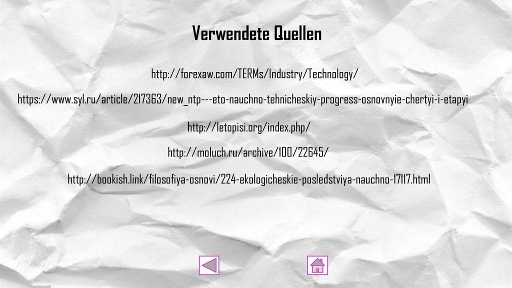 Verwendete Quellen http://forexaw.com/TERMs/Industry/Technology/