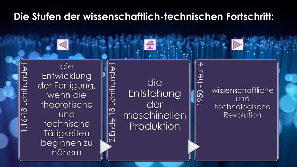 Die Stufen der wissenschaftlich-technischen Fortschritt: