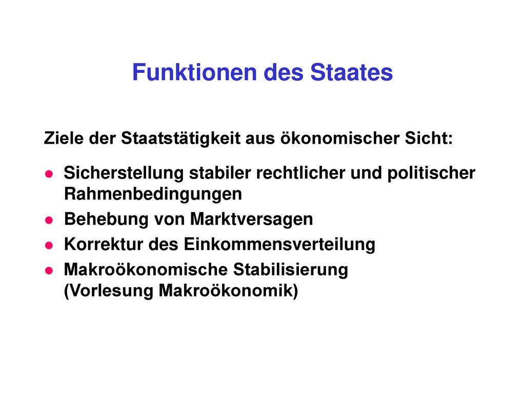 Funktionen des Staates