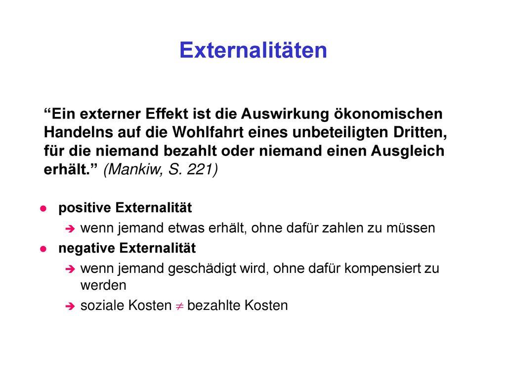Externalitäten