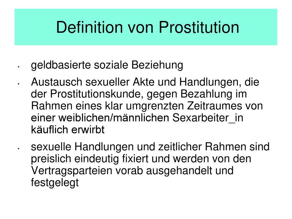 Definition von Prostitution