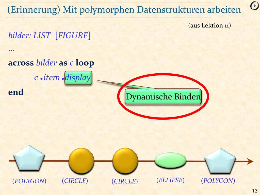 (Erinnerung) Mit polymorphen Datenstrukturen arbeiten