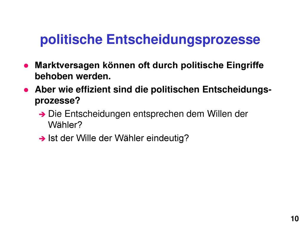 politische Entscheidungsprozesse