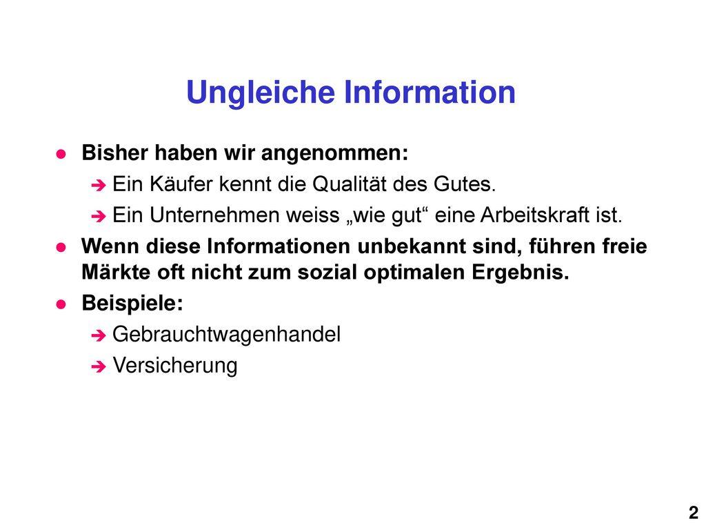 Ungleiche Information