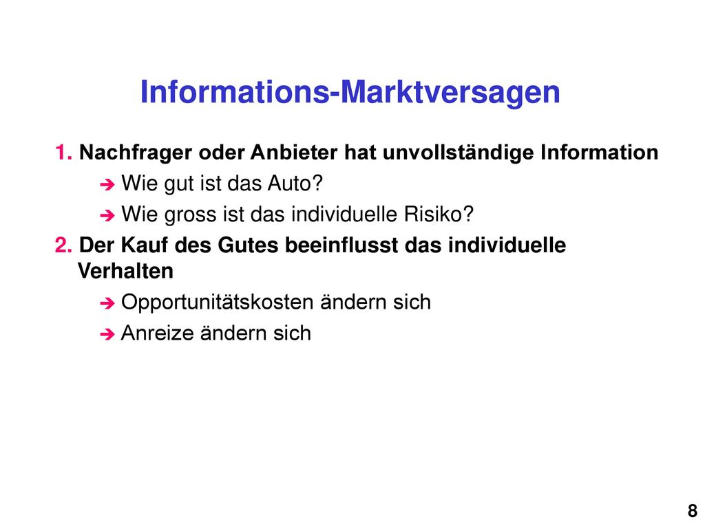 Informations-Marktversagen