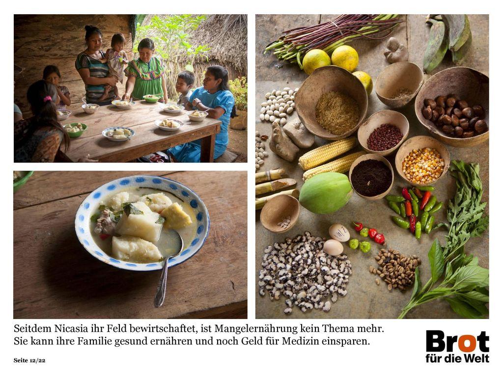 Seitdem Nicasia ihr Feld bewirtschaftet, ist Mangelernährung kein Thema mehr.