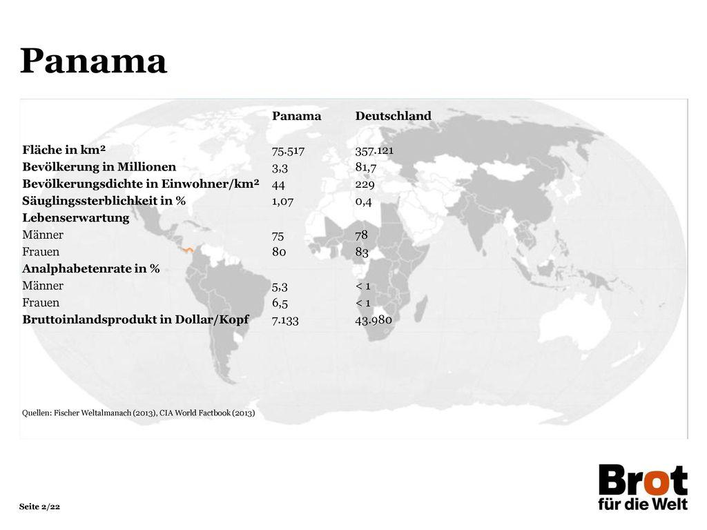 Panama Panama Deutschland Fläche in km² 75.517 357.121