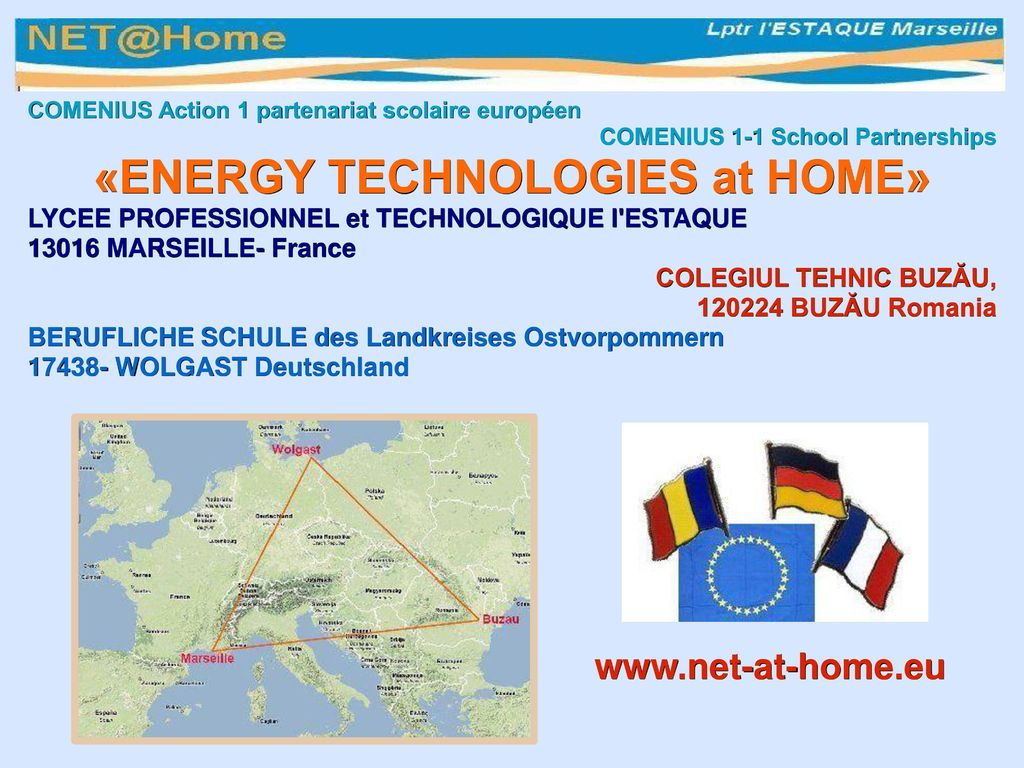 «ENERGY TECHNOLOGIES at HOME»