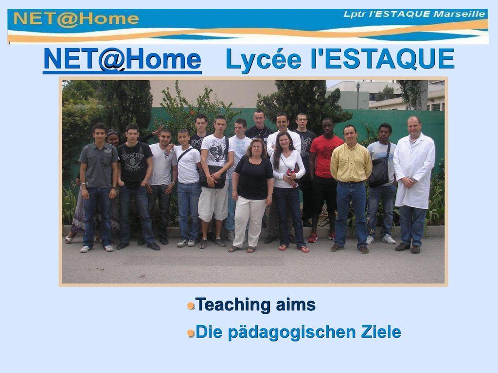 NET@Home Lycée l ESTAQUE