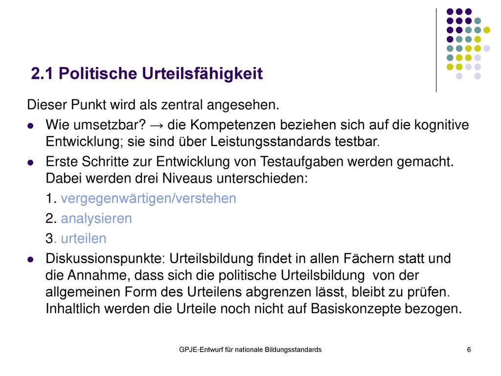 2.1 Politische Urteilsfähigkeit