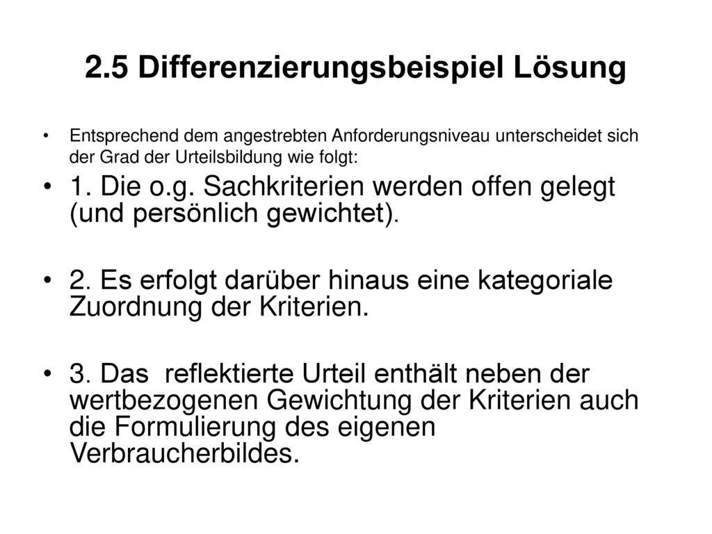 2.5 Differenzierungsbeispiel Lösung