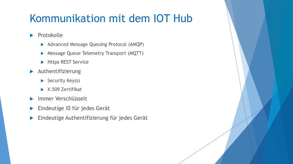 Kommunikation mit dem IOT Hub