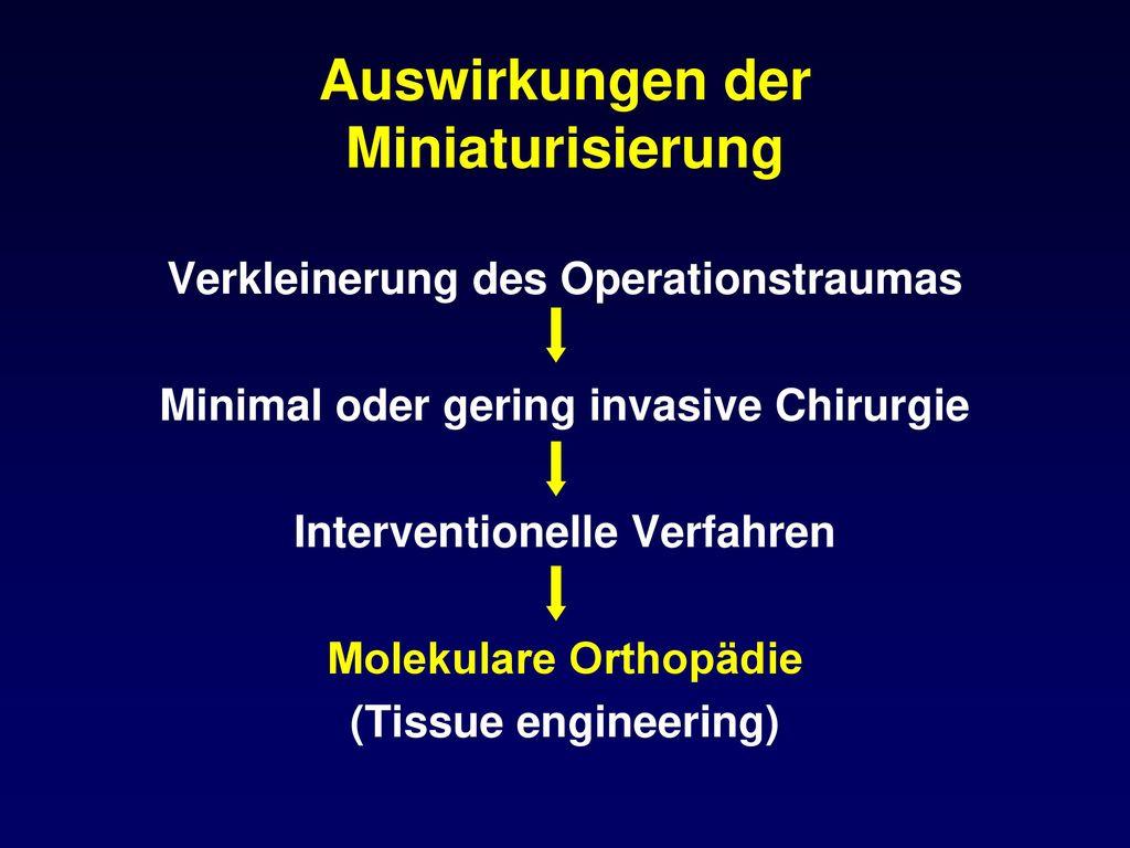 Auswirkungen der Miniaturisierung