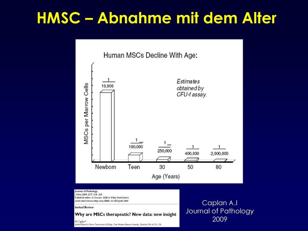HMSC – Abnahme mit dem Alter