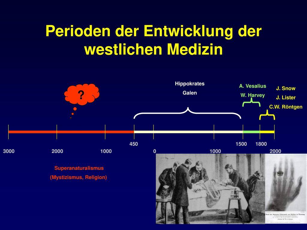 Perioden der Entwicklung der westlichen Medizin