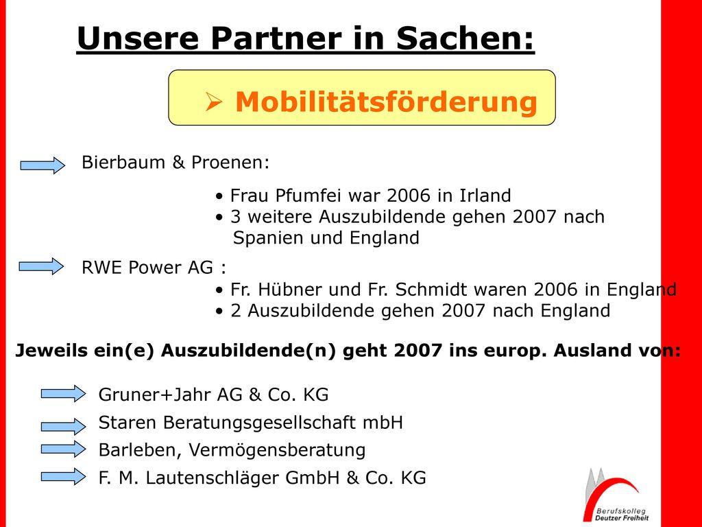 Unsere Partner in Sachen: