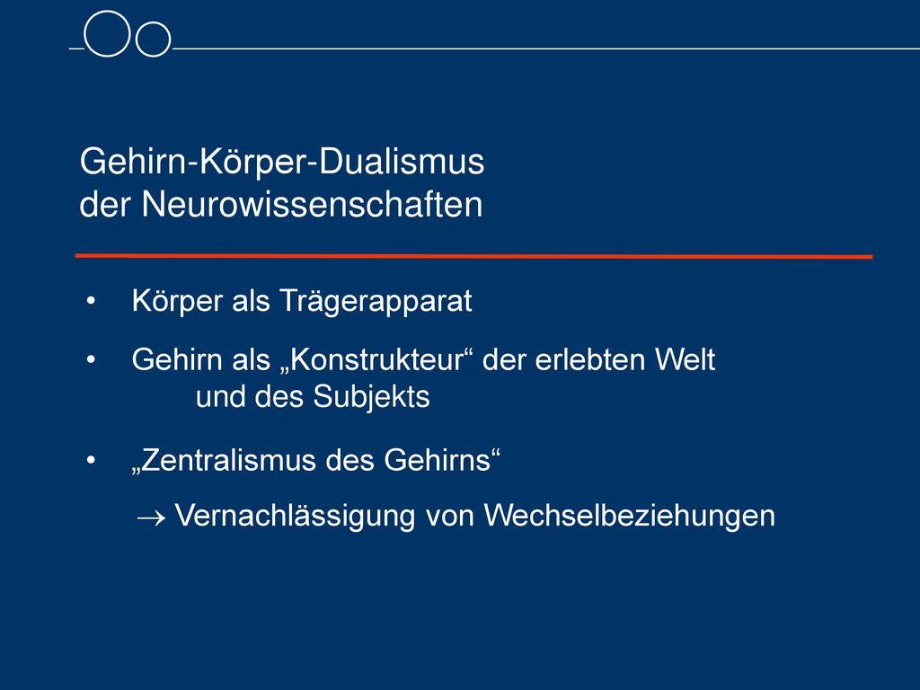 Gehirn-Körper-Dualismus der Neurowissenschaften