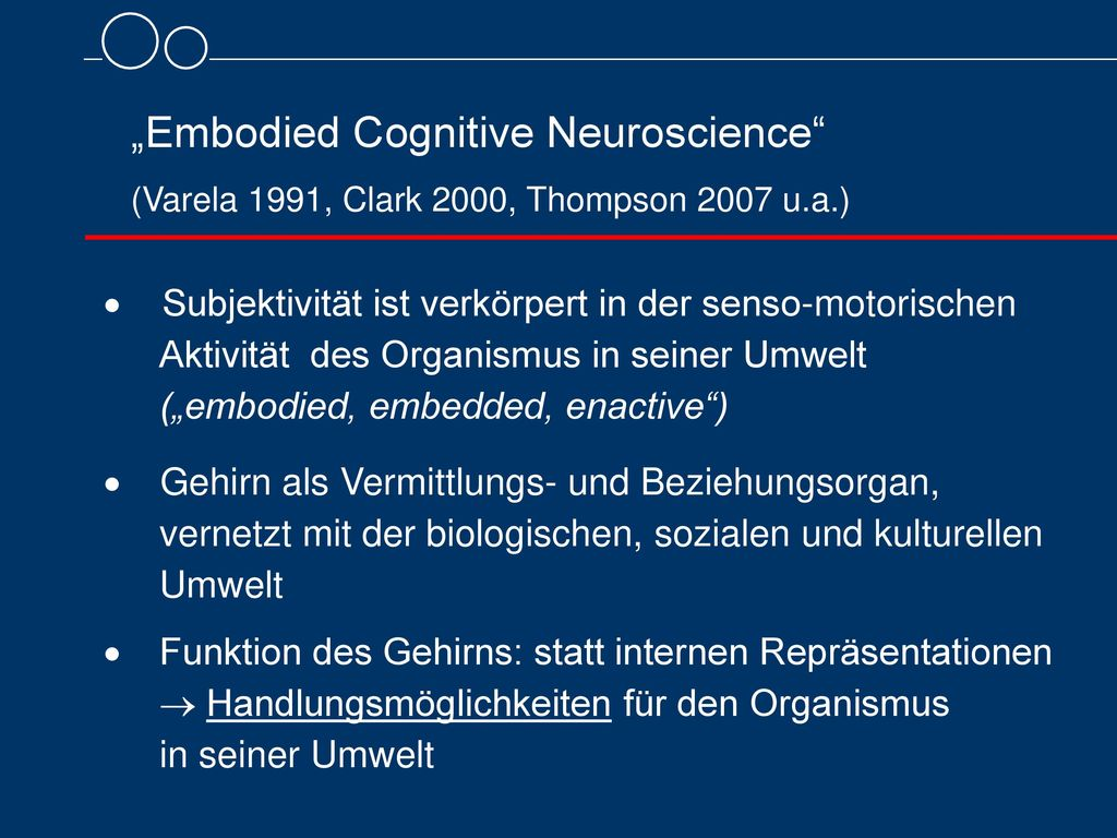 """""""Embodied Cognitive Neuroscience"""