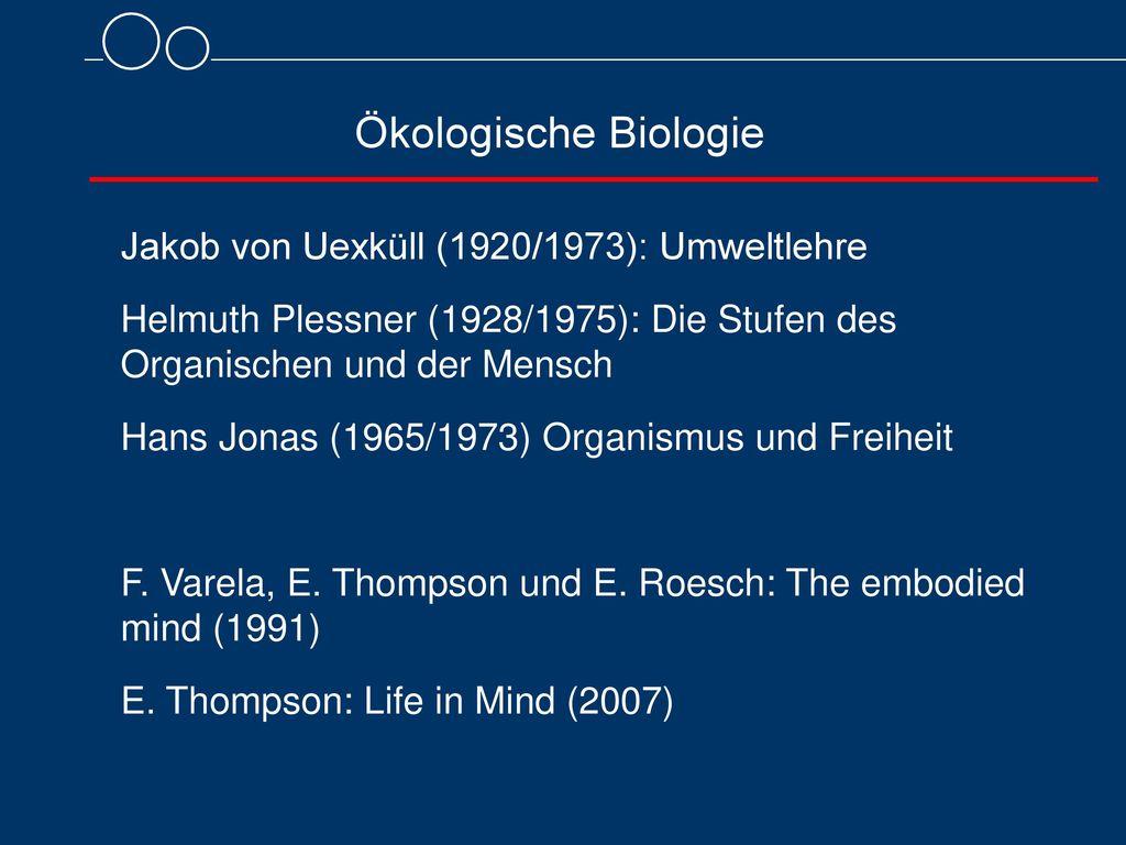 Ökologische Biologie Jakob von Uexküll (1920/1973): Umweltlehre
