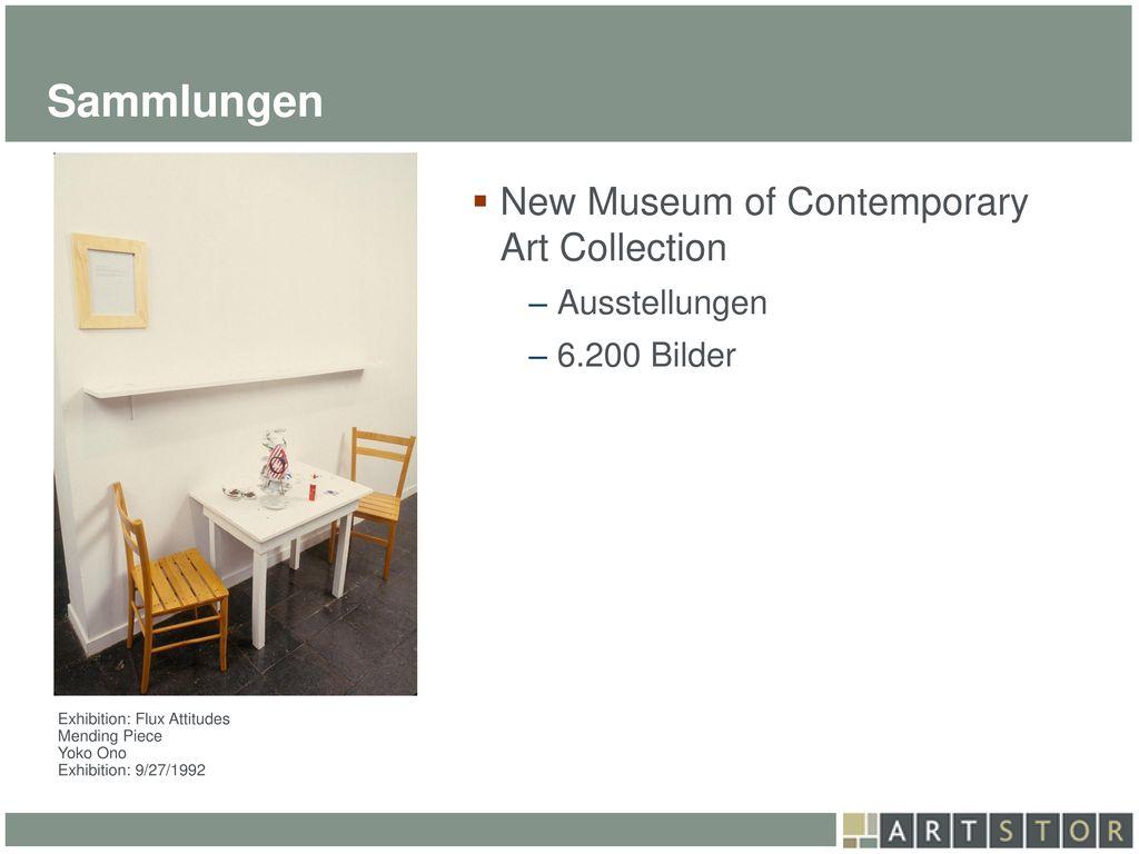 Sammlungen New Museum of Contemporary Art Collection Ausstellungen