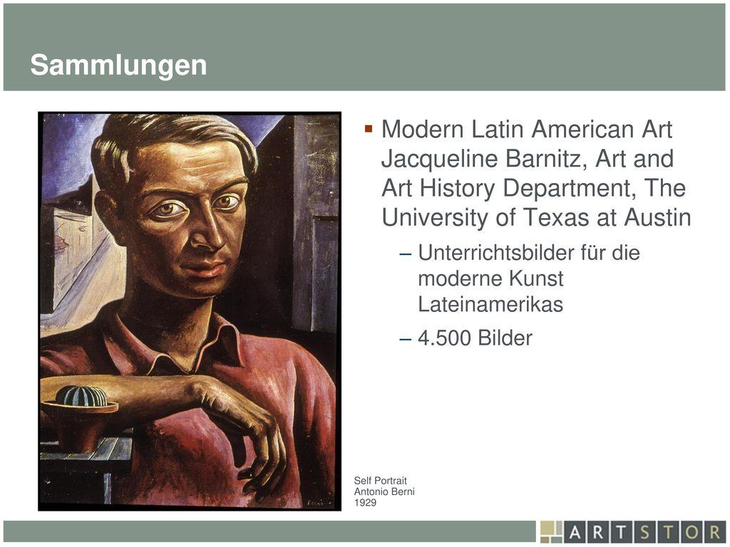 Sammlungen Modern Latin American Art Jacqueline Barnitz, Art and Art History Department, The University of Texas at Austin.