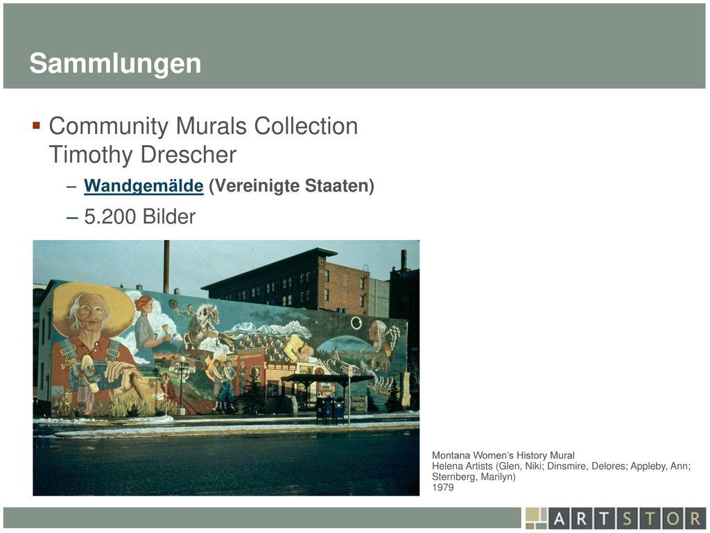 Sammlungen Community Murals Collection Timothy Drescher 5.200 Bilder