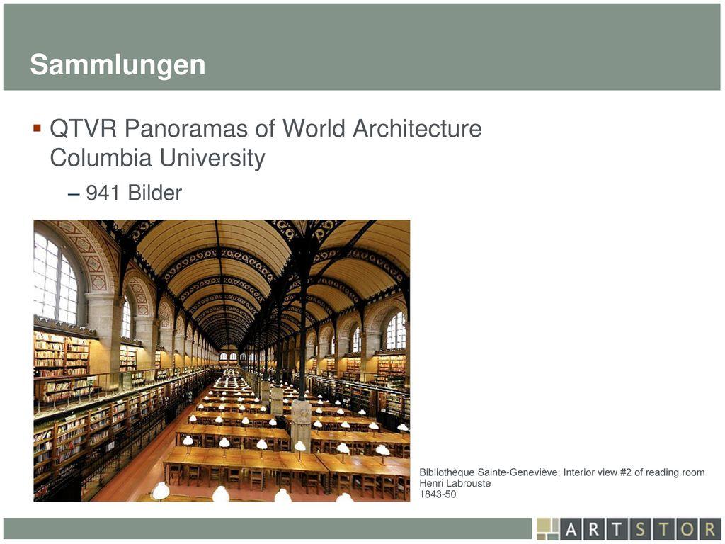 Sammlungen QTVR Panoramas of World Architecture Columbia University