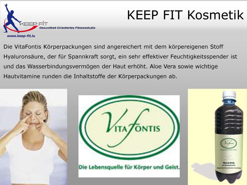 KEEP FIT Kosmetik www.keep-fit.lu.