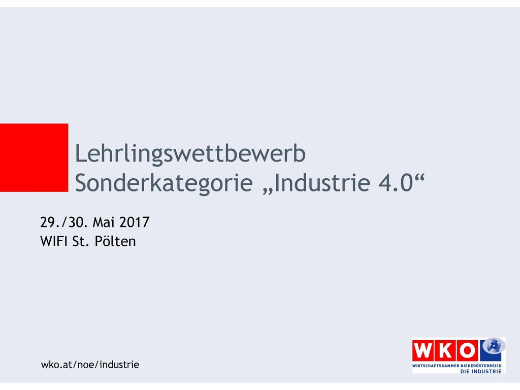 """Lehrlingswettbewerb Sonderkategorie """"Industrie 4.0"""