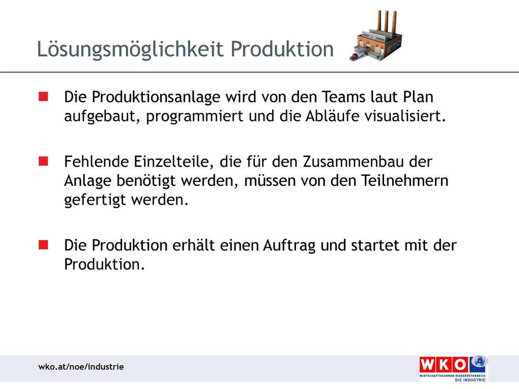 Lösungsmöglichkeit Produktion