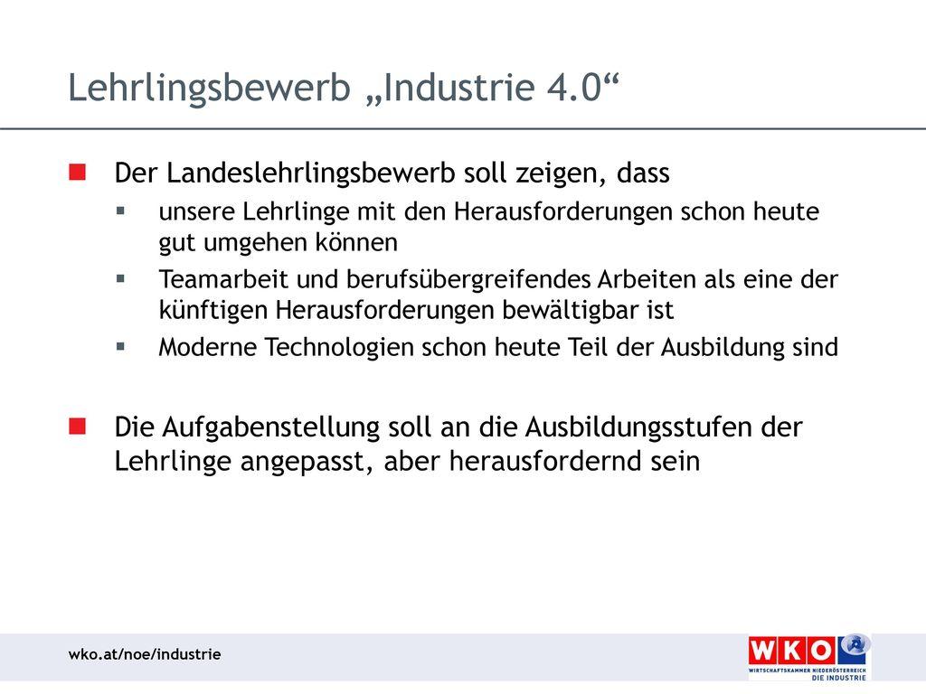 """Lehrlingsbewerb """"Industrie 4.0"""