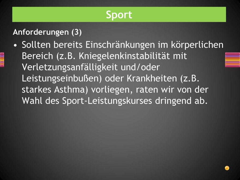 Sport Anforderungen (3)